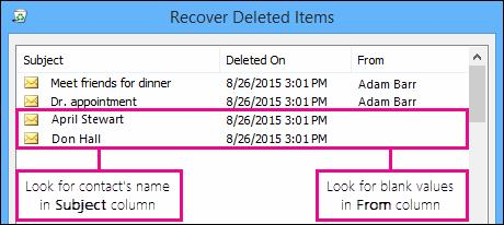recover deleted contacts step 2