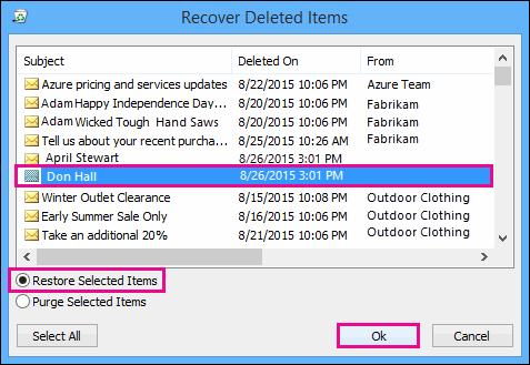 recover outlook contacts step 3