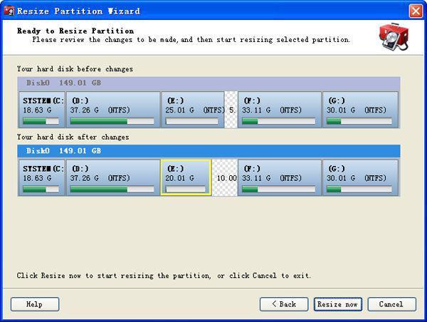 split partition windows xp