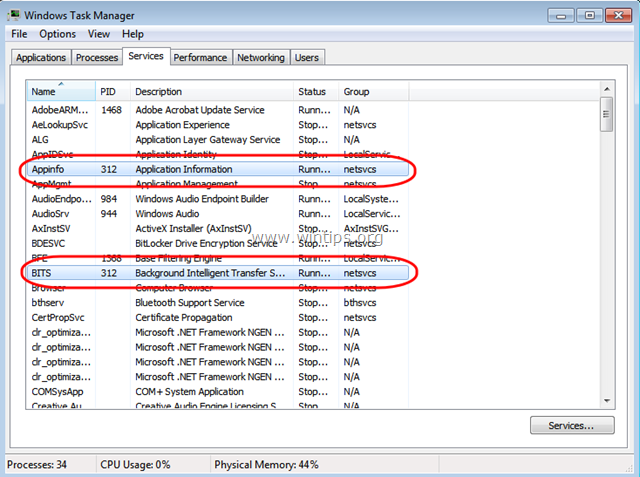 svchost.exe high memory usage windows 7