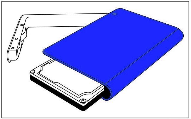 Modelo de Disco Duro USB 7