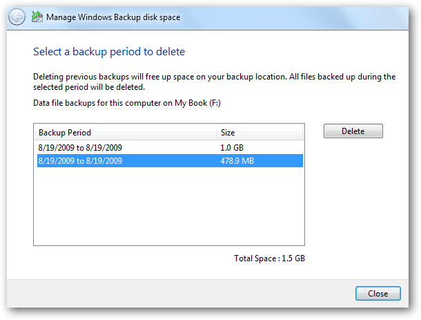 manage windows backup size