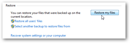 restore files from backup