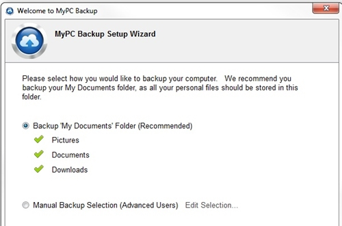 backup computer files with MyPCBackup 4