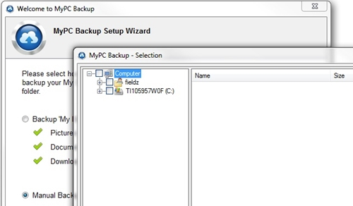 backup computer files with MyPCBackup 5