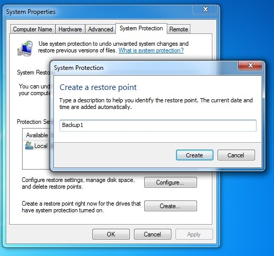 backup the Windows 7 registry