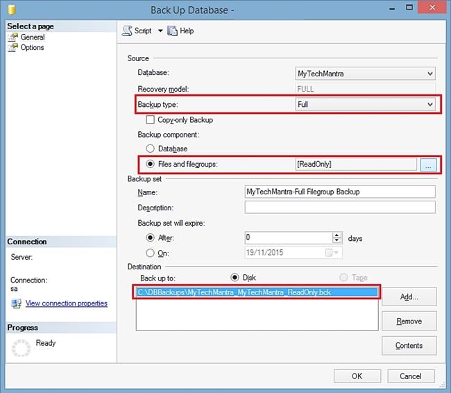 backup sql server database
