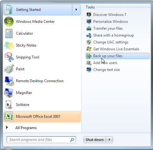 create a system image backup