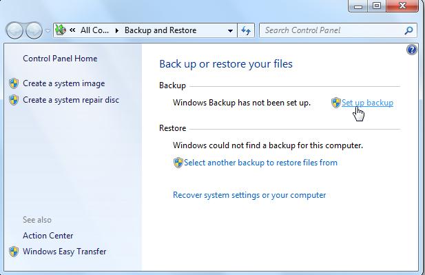 full system backup in Windows-2