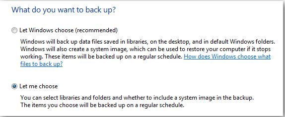 full system backup in Windows