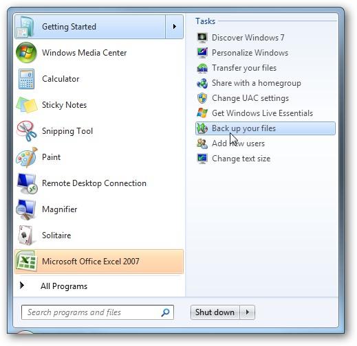 Windows 7 Image Backup