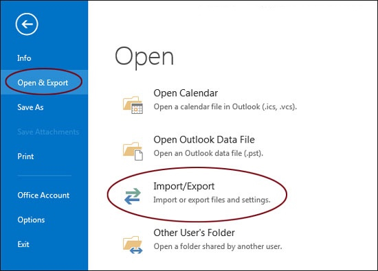 export outlook email files
