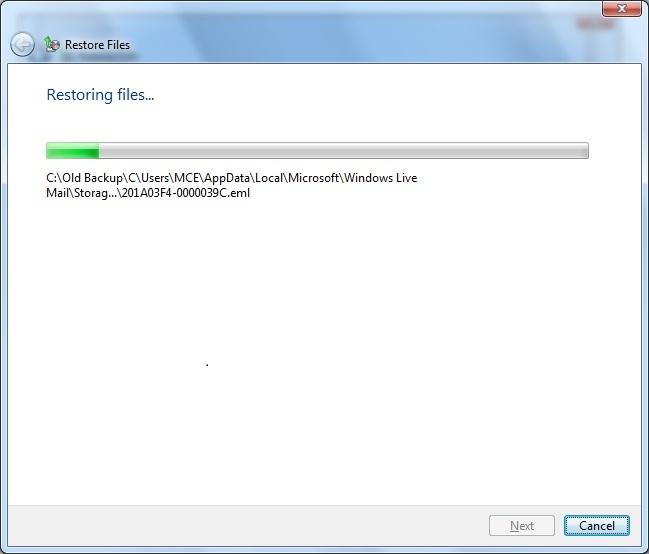 restore c drive files