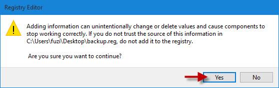 restore registry