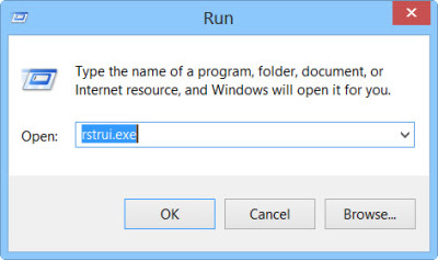 restore the registry backup in wondows