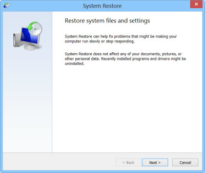 restore the registry in Windows