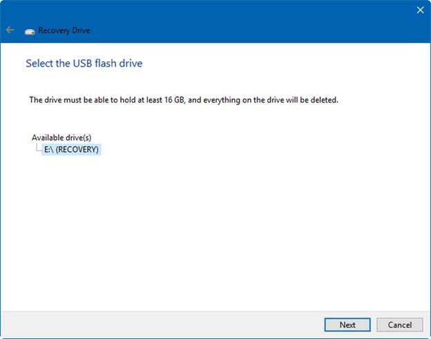 select a usb flash drive