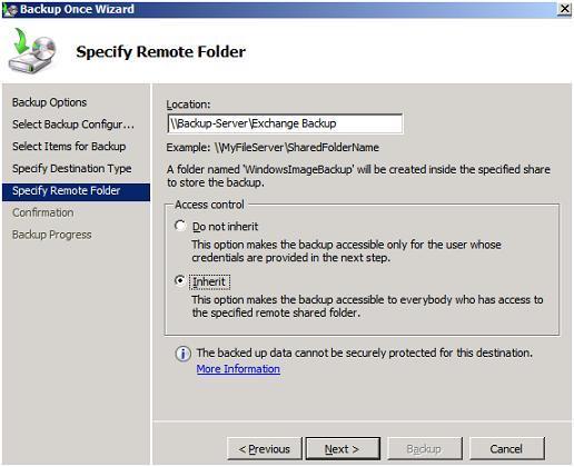 specify remote folder