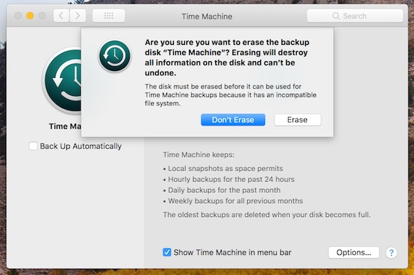 Como recuperar backups do Time Machine do disco do APFS