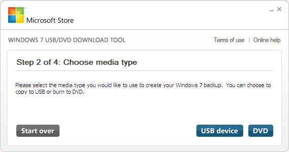 Windows 7 USB-Download-Tool