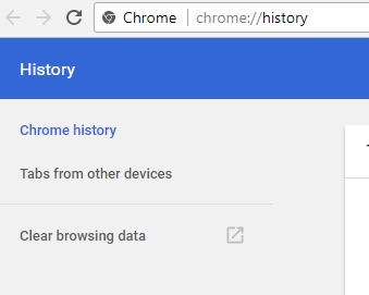 clear browsing history