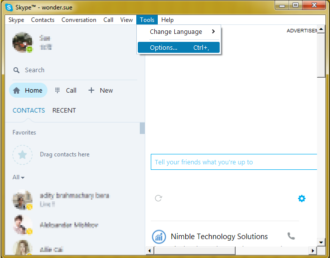 delete skype messages history