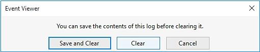 delete windows event logs
