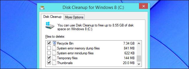 disk cleanup memory dumps