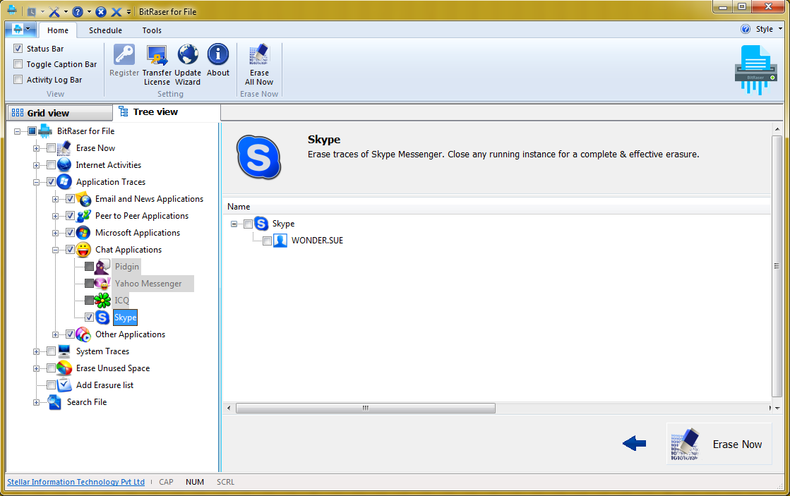 The easiest way to delete the history of messages in Skype