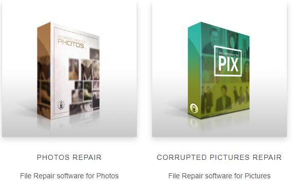 File Repair to repair corrupt photos