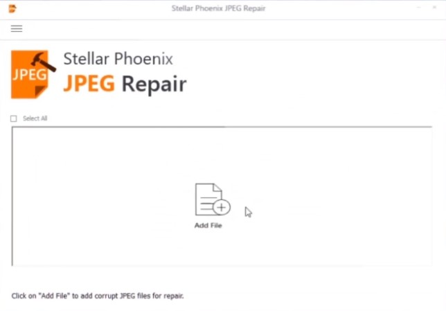 launch the photo repair software