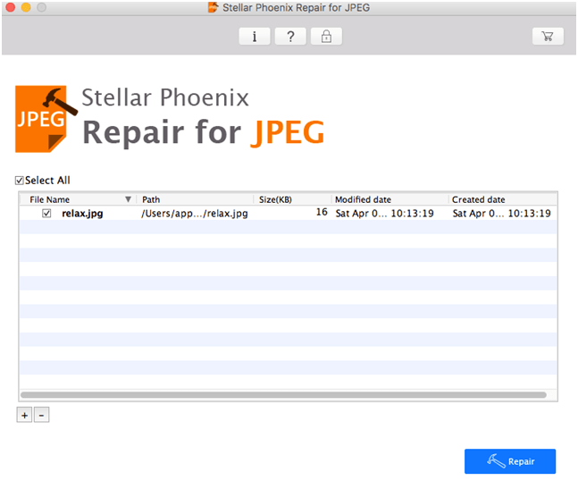 start to repair Jpg files