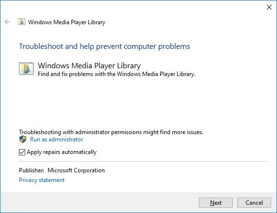 Windows media player library
