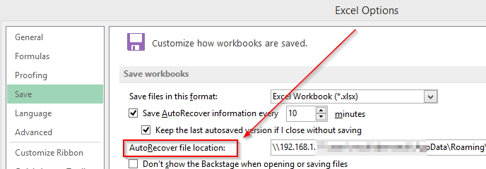 autorecover Word files