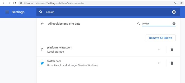 Chrome Twitter Cookies