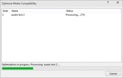optimize media compatibility 2