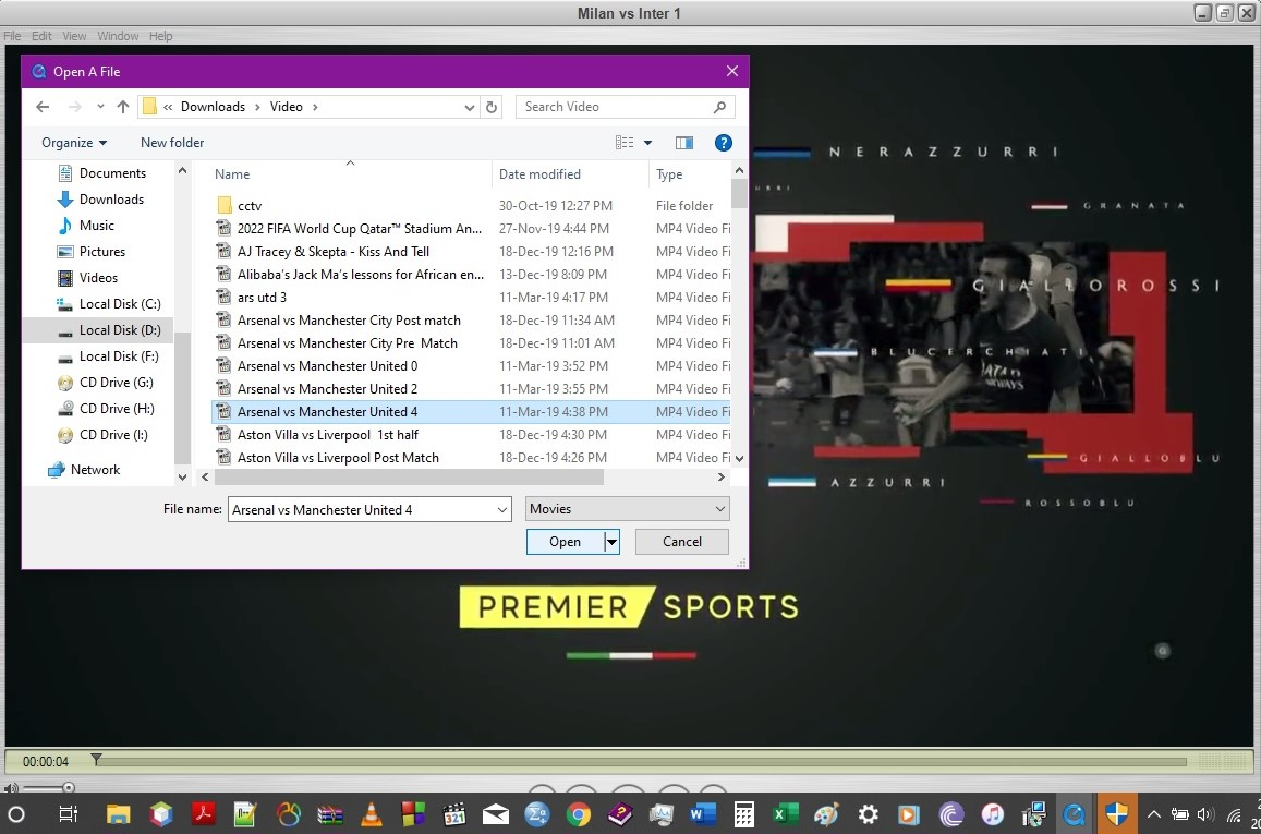 quicktime select video file
