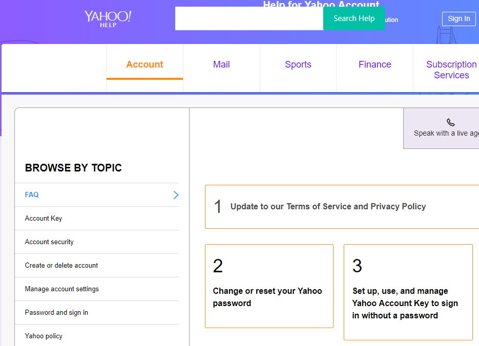 change yahoo password on computer