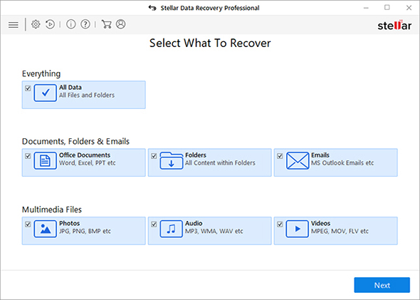 stellar free data recovery for Windows and mac