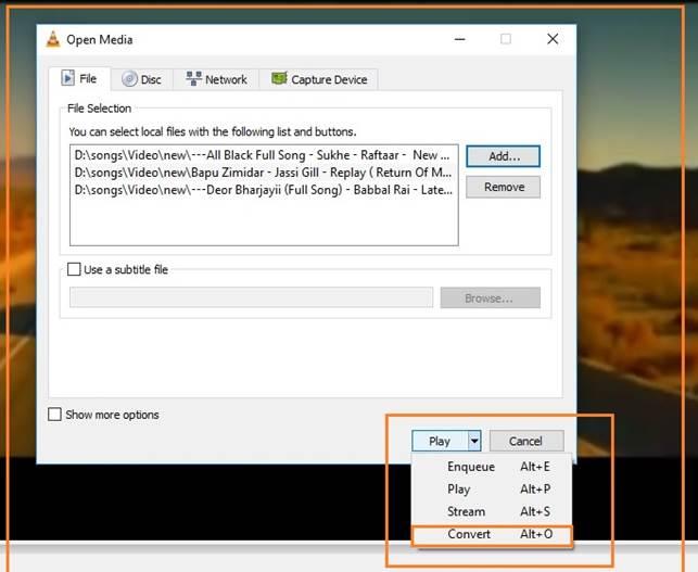 vlc merge multiple videos