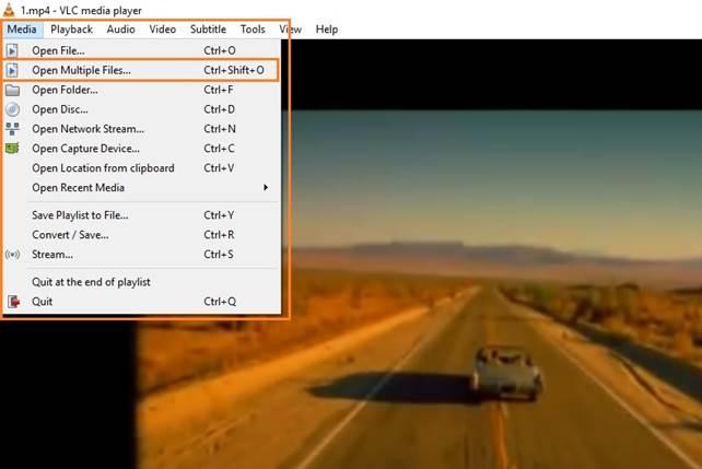 vlc open multiple videos