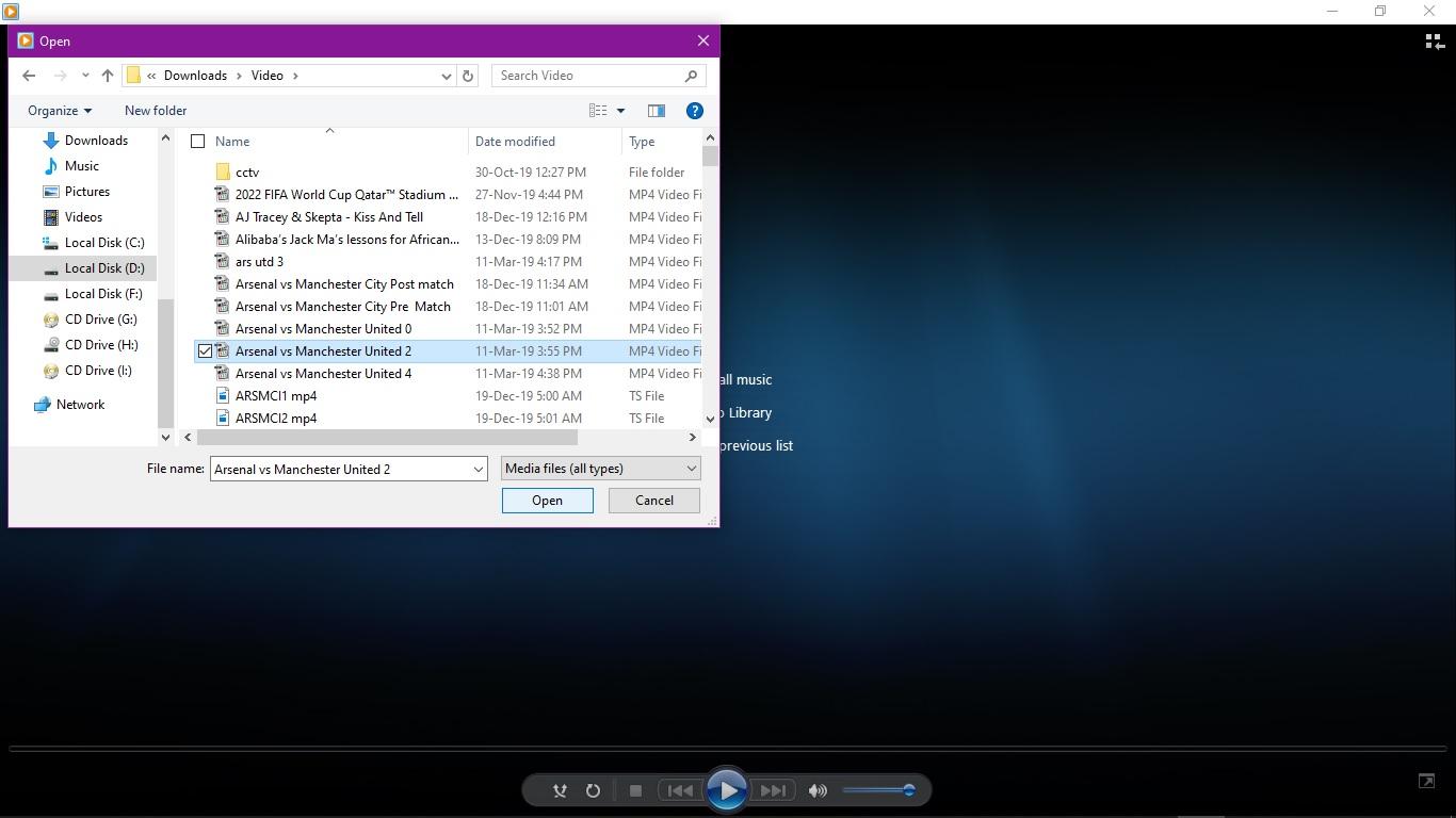 windows media open file