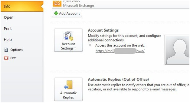 mettre en place outlook hors site dans Outlook 2014