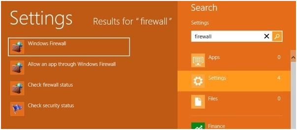 désactiver le pare-feu de Windows