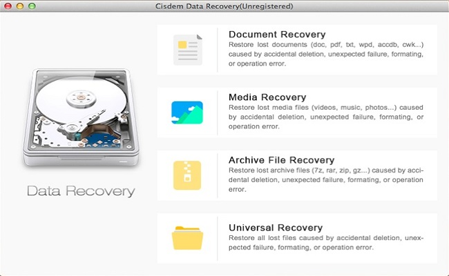 Cisdem DataRecovery pour Mac