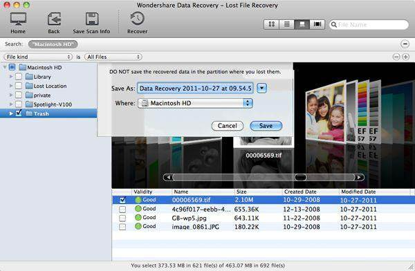 recuperare file eliminati con Wondershare Mac Recupero Dati fase 4