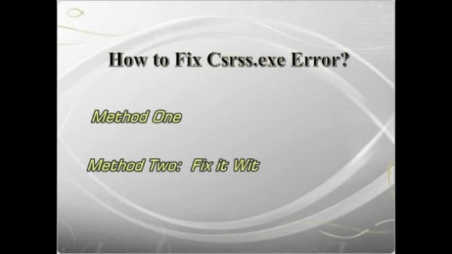 résoudre les problèmes liés à csrss.exe