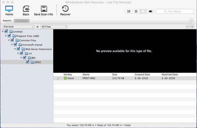 recuperare file eliminati con Wondershare Mac Recupero Dati fase 3
