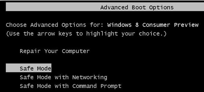 Ne peut pas entrer en mode sans échec dans Windows 10