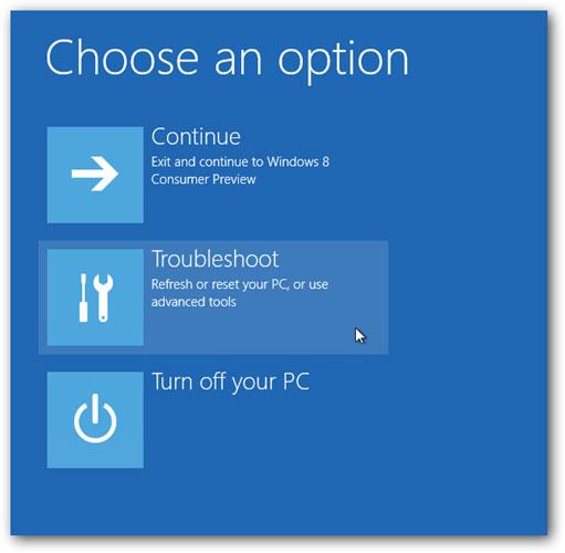 Arriver à entrer en mode sans échec dans Windows 10 étape 2